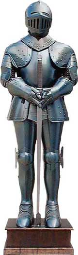 Medieval Blued Wearable Full Suit of Armor